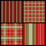 Seamless Plaid Pattern Set Stock Photography