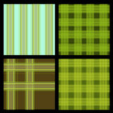 Seamless Plaid Pattern Set Stock Images