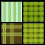 Seamless Plaid Pattern Set Stock Images