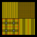 Seamless Plaid Pattern Set Royalty Free Stock Image
