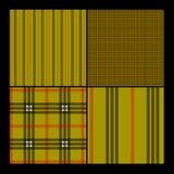 Seamless Plaid Pattern Set Royalty Free Stock Image