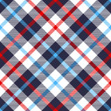 Seamless plaid pattern. Seamless tartan plaid pattern. Checkered fabric texture print in nautical palette stock illustration