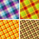 Seamless plaid patterns. Collection of plaid. Seamless patterns stock illustration