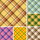 Seamless plaid patterns Royalty Free Stock Photography