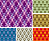 Seamless plaid patterns Royalty Free Stock Image