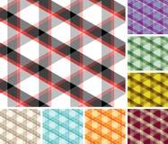 Seamless plaid patterns. Big collection of seamless trigonal plaid pattern vector illustration
