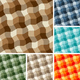 Seamless plaid patterns Royalty Free Stock Photos