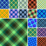 Seamless plaid patterns Royalty Free Stock Images