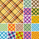 Seamless plaid patterns Stock Photography