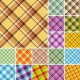 Seamless Plaid Patterns Stock Photography