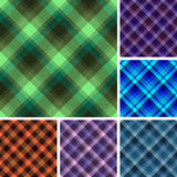 Seamless plaid patterns Royalty Free Stock Photo