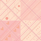 Seamless plaid pink pattern set. For baby stock illustration