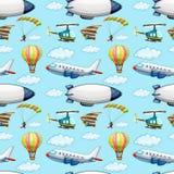 Seamless planes Stock Photo