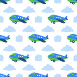 Seamless planes pattern Stock Photo