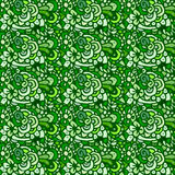 Seamless plant and flowers pattern. Seamless green plant and flowers pattern Stock Photo