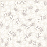 Seamless plant pattern with fabric texture Royalty Free Stock Photo