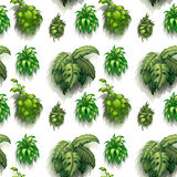 Seamless plants Stock Image