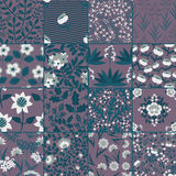 Seamless plants patterns Royalty Free Stock Photography