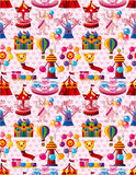 Seamless playground pattern. Vector drawing Stock Photos