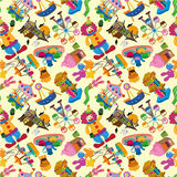 Seamless playground pattern. Vector drawing Royalty Free Stock Images