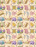 Seamless playground pattern Royalty Free Stock Photo