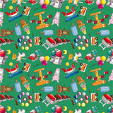 Seamless playground pattern Stock Images