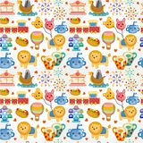 Seamless playground pattern Stock Photography