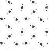 Seamless Playing Cards Clubs Pattern Background Stock Photo