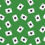Seamless Playing Cards Clubs Suit Pattern Background Royalty Free Stock Photo