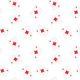 Seamless Playing Cards Diamonds Pattern Background Royalty Free Stock Photo