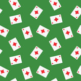 Seamless Playing Cards Diamonds Suit Pattern Background Royalty Free Stock Photography
