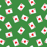 Seamless Playing Cards Hearts Suit Pattern Background Royalty Free Stock Images