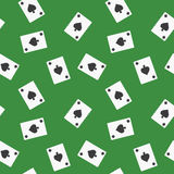 Seamless Playing Cards Spades Suit Pattern Background Royalty Free Stock Image
