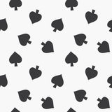 Seamless Playing Cards Spades Suit Pattern Stock Photography