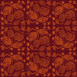 Seamless Plum fruits pattern Stock Images