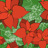 Seamless Poinsettia Background Royalty Free Stock Photo