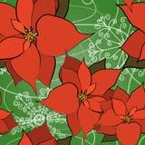 Seamless Poinsettia Background Royalty Free Stock Photo