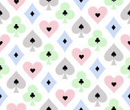 Seamless poker background with transparent effect Royalty Free Stock Images