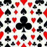 Seamless poker pattern background Royalty Free Stock Photography