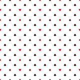Seamless poker pattern with card suits Stock Photo