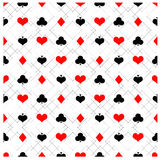 Seamless poker pattern with card suits Royalty Free Stock Photo