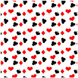 Seamless poker pattern Stock Images