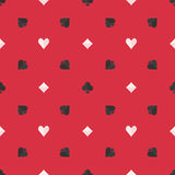 Seamless poker pattern Stock Image
