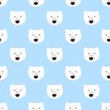 Seamless polar bear pattern. Seamless pattern, polar bear vector art  background design for fabric and decor Stock Images