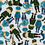 Seamless police and army pattern Royalty Free Stock Photo