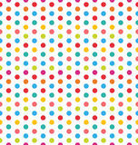 Seamless Polka Dot Background, Colorful Pattern for Textile Stock Image