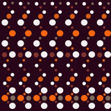 Seamless polka dot bright pattern on black Royalty Free Stock Image