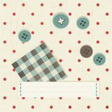 Seamless polka dot fabric Royalty Free Stock Images