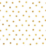 Seamless polka dot golden pattern Royalty Free Stock Photography