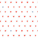 Seamless polka dot hearts pattern Stock Images